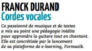 Franck Durand - cordes vocales Article partie 1